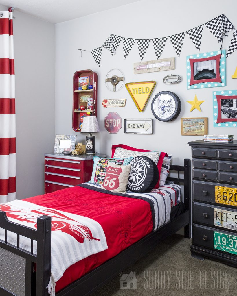 Unique Headboard for a Boys Bedroom