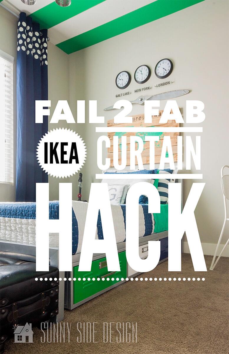 Fail 2 Fab IKEA Curtain Hack