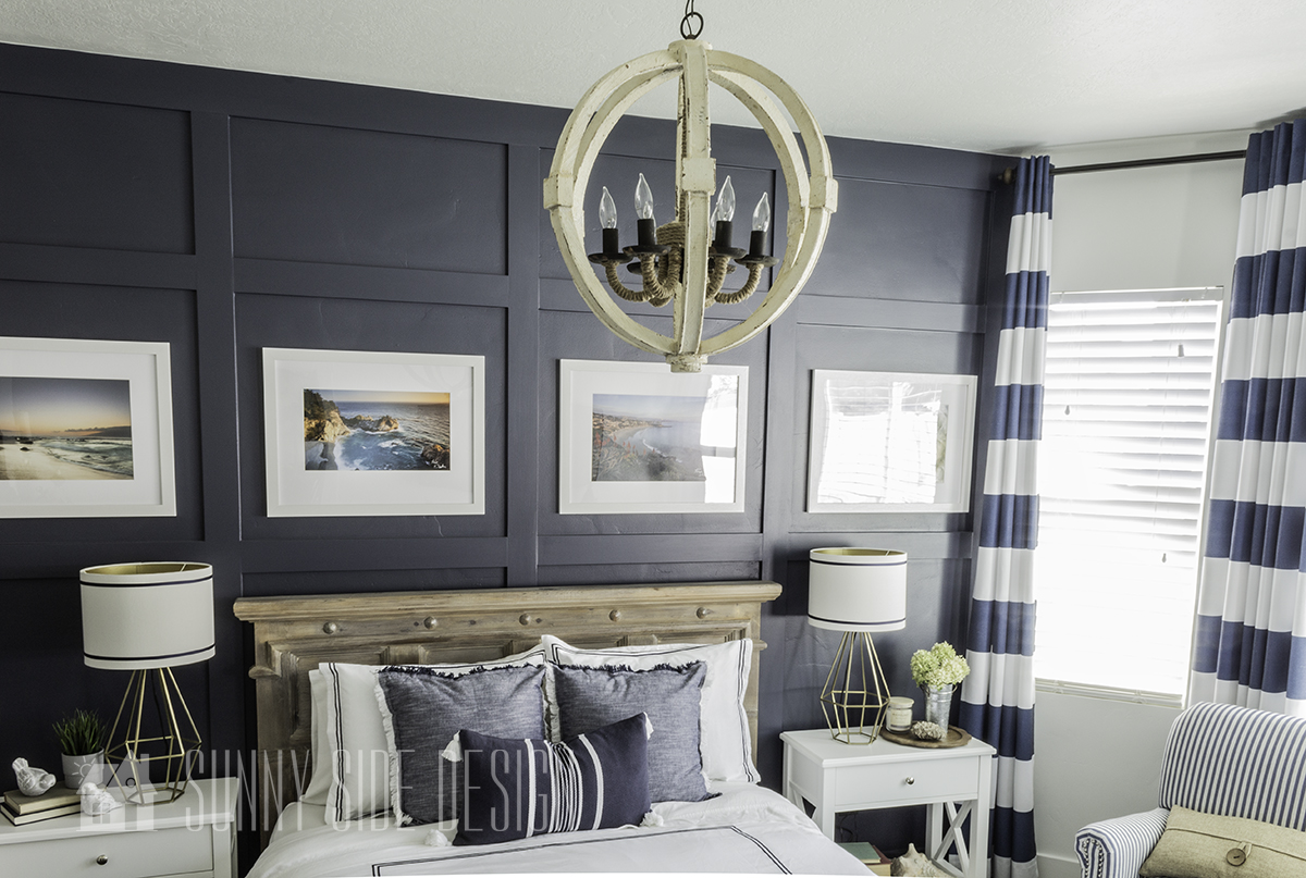 Adding Coastal Style to an Orb Chandelier