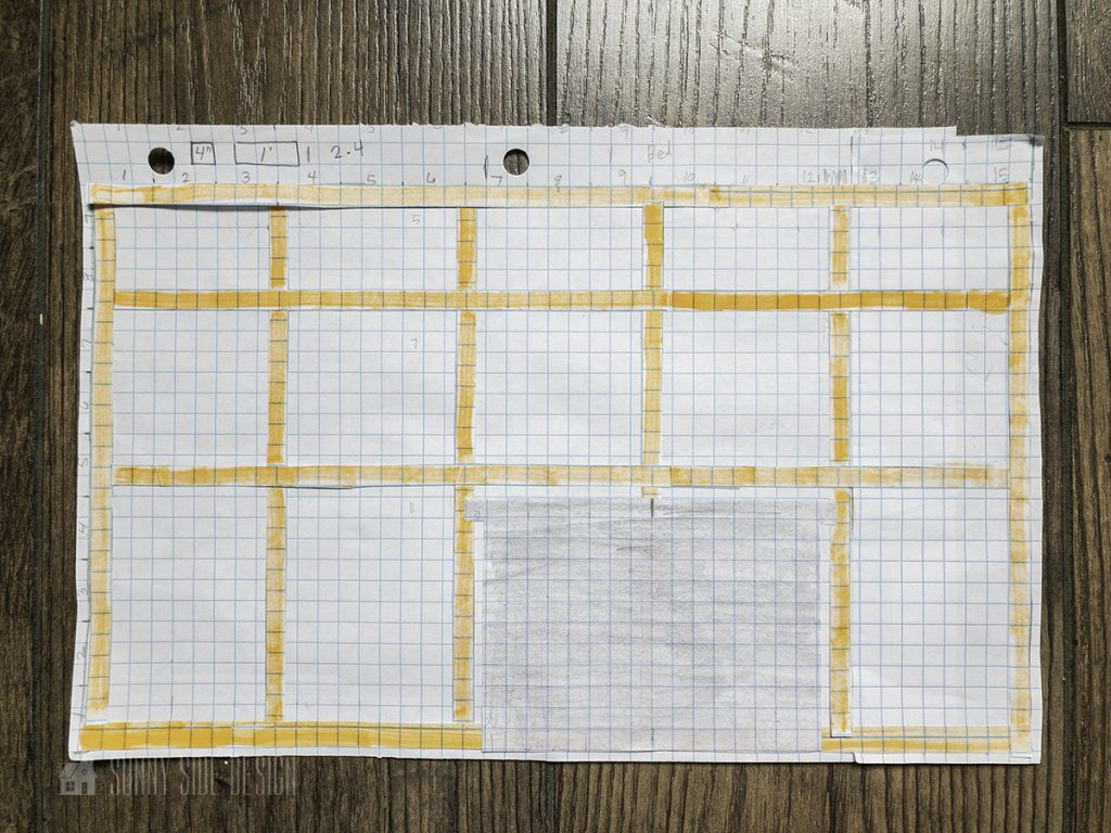graph out wall layout