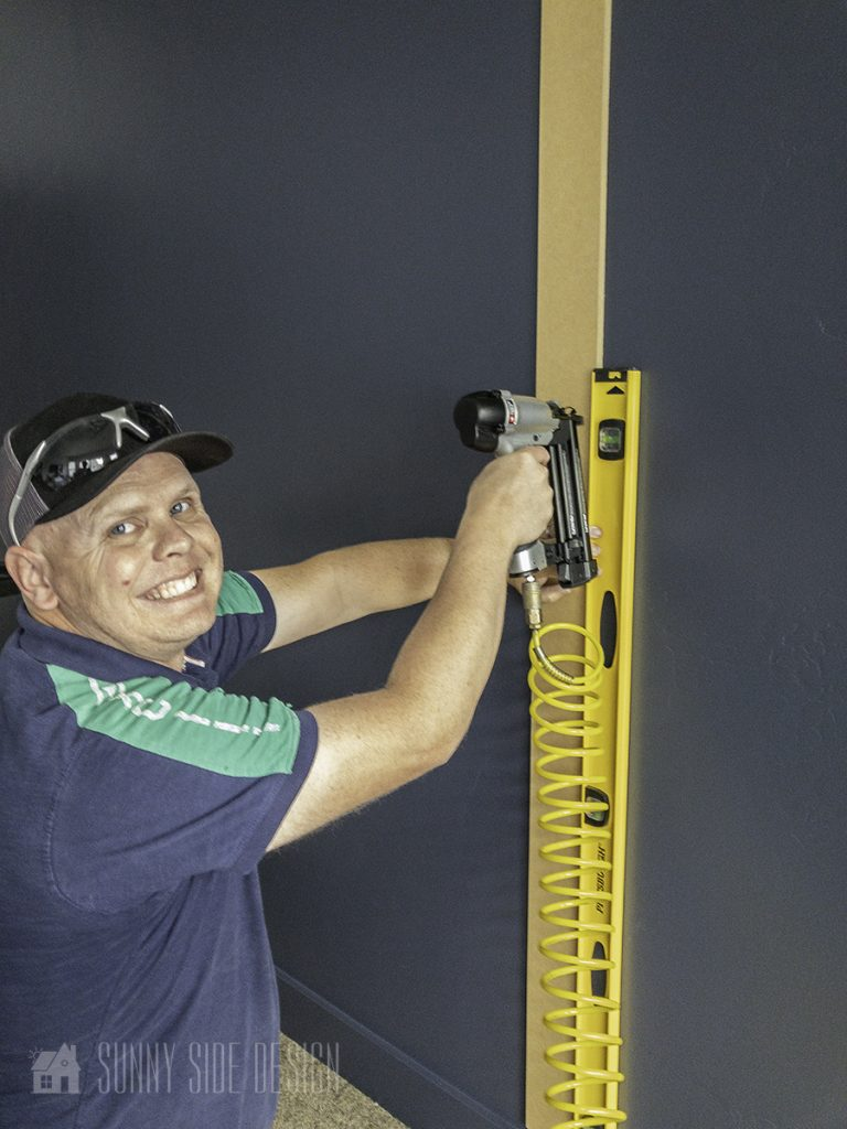 be sure vertical boards are plum while installing