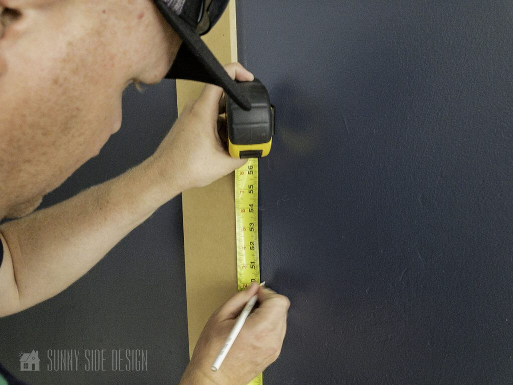 measure and mark where the horizontal boards will be located