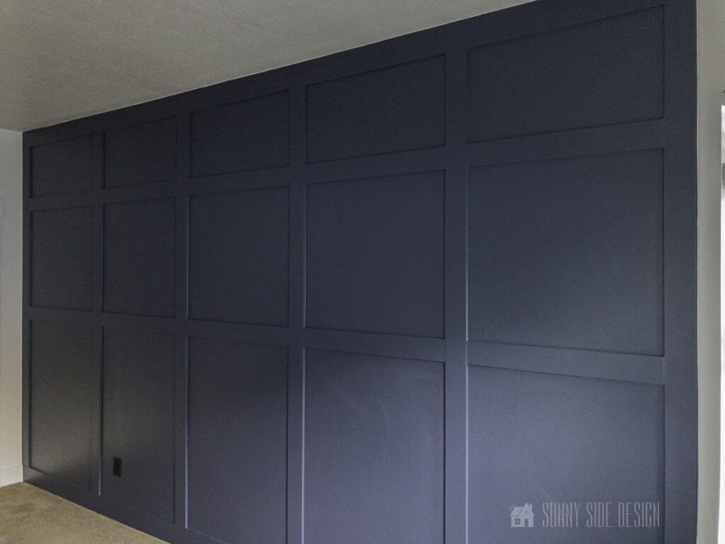 finished board and batten accent wall