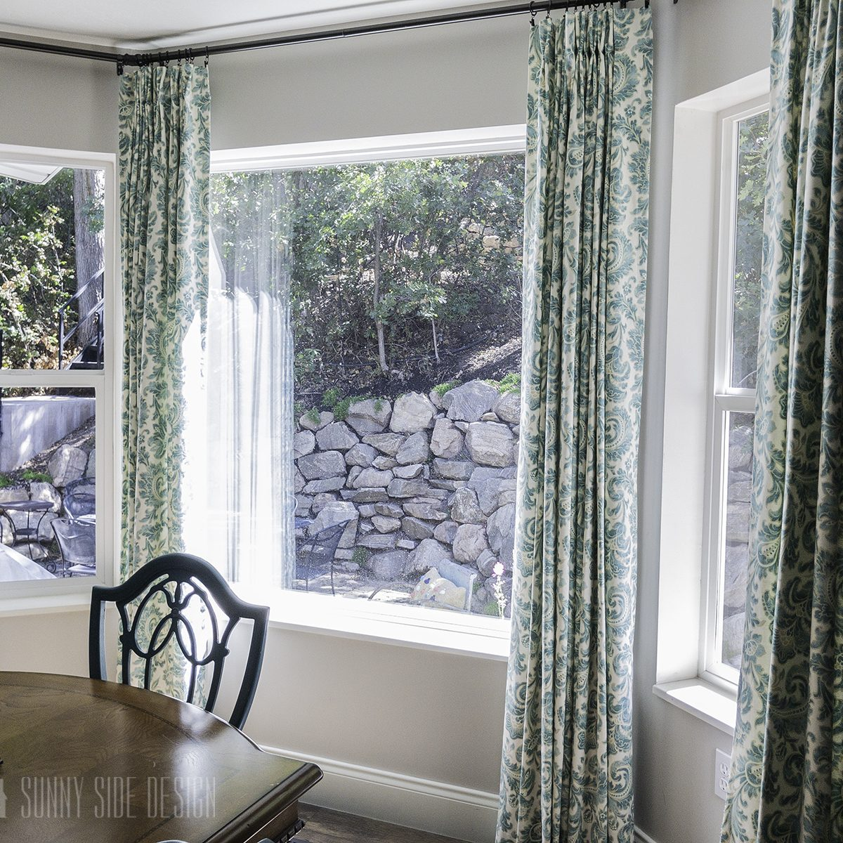 How To DIY Your Own Bay Window Curtain Rod   Sunny Side Design