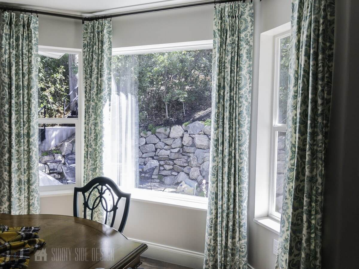 How To DIY Your Own Bay Window Curtain Rod - Sunny Side Design