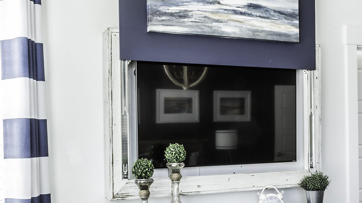 The Most Clever DIY Hidden TV Cabinet