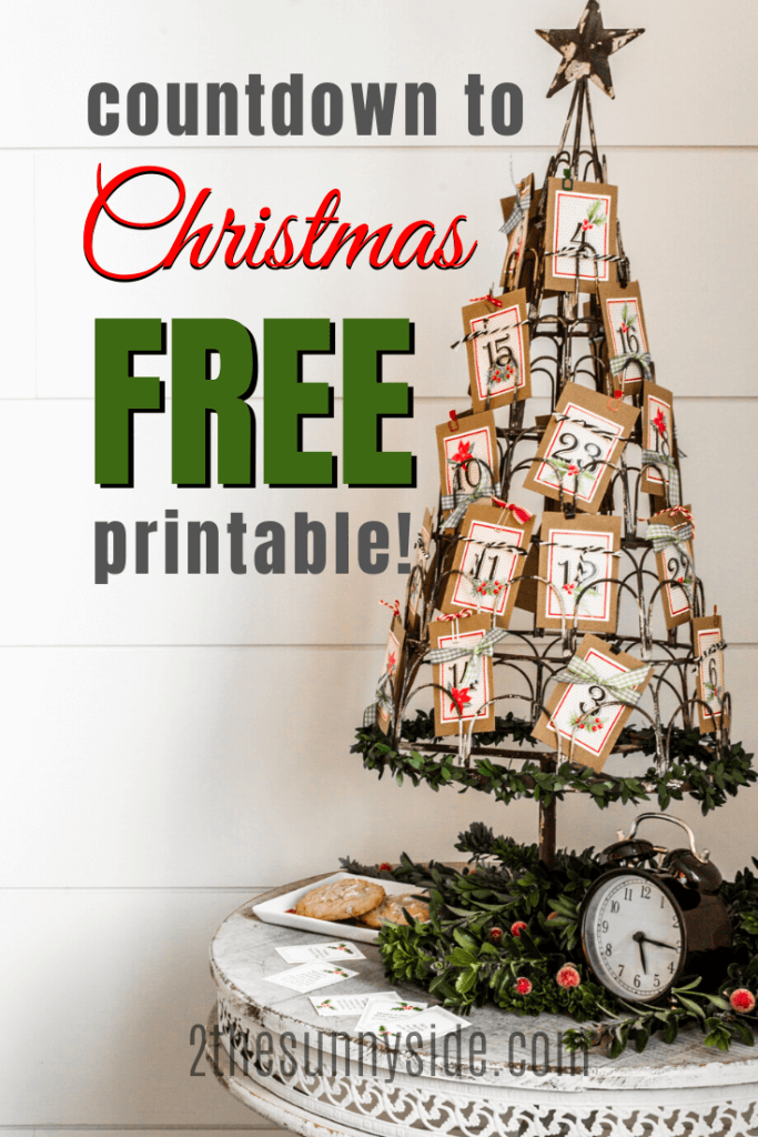 wire Christmas tree card holder with Kraft colored coin envelopes filled with service activities for kids to countdown to Christmas.
