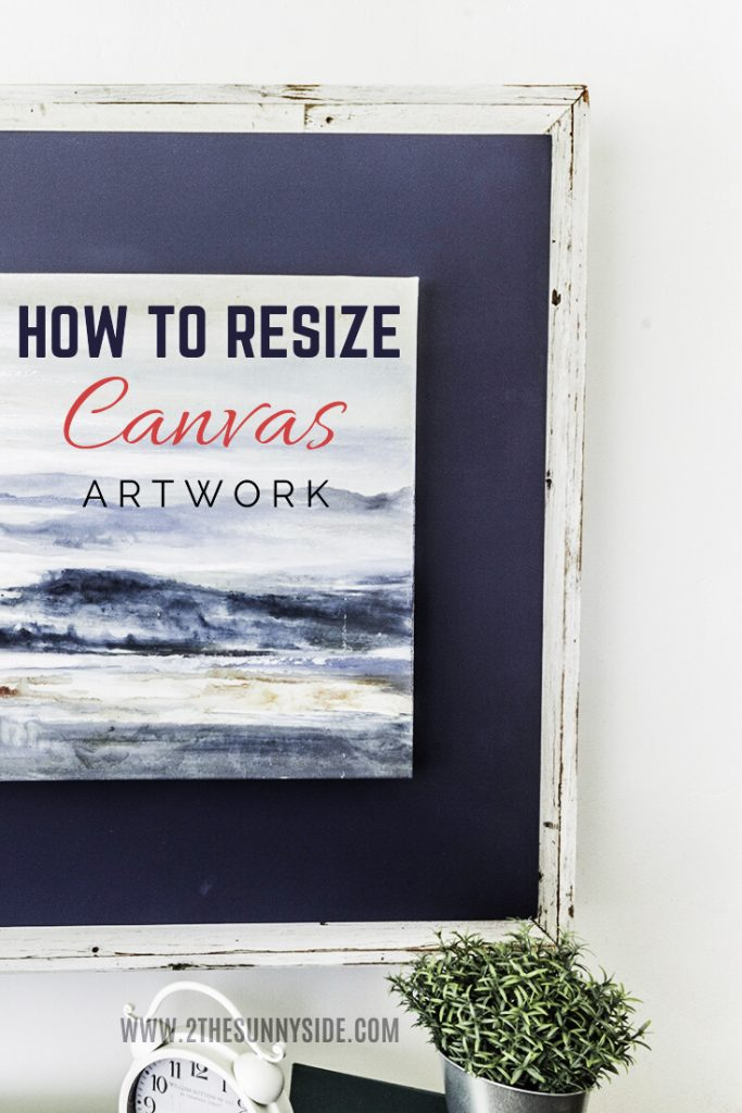 Resize canvas art work