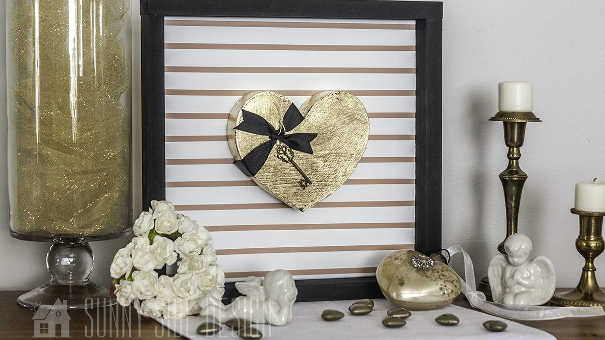 Valentine's Day Decor Idea Using Gold Leaf