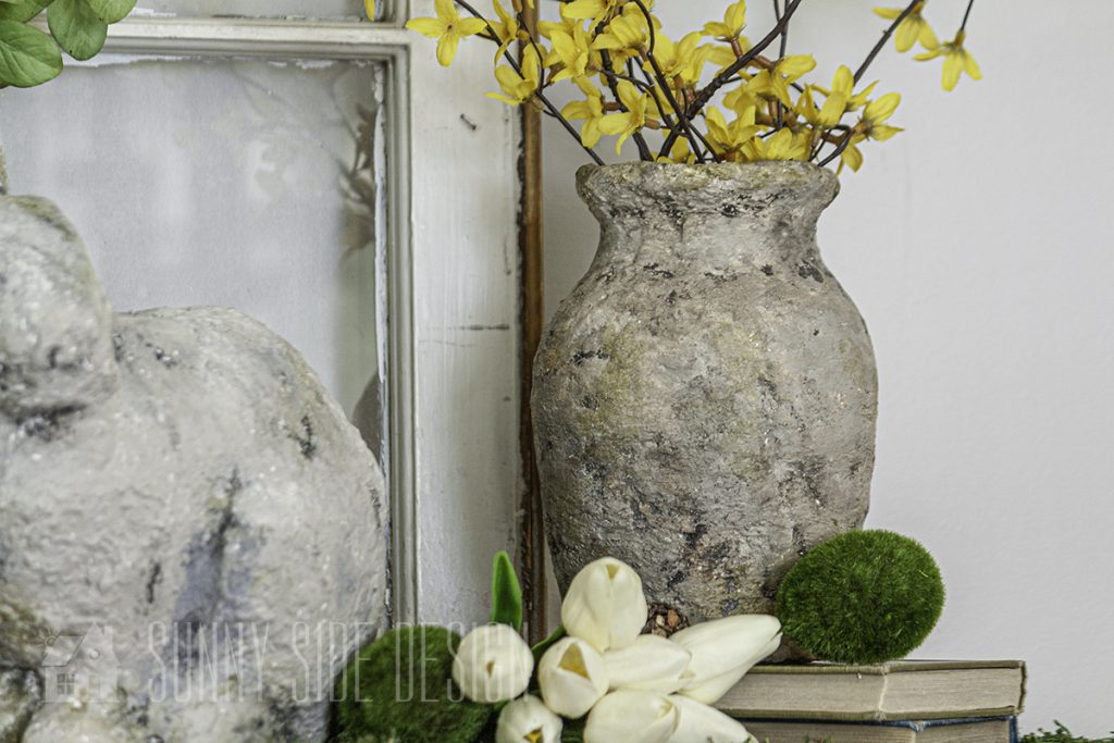 Faux stone container