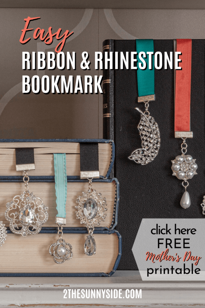 Diy Ribbon & Rhine Stone Bookmarks