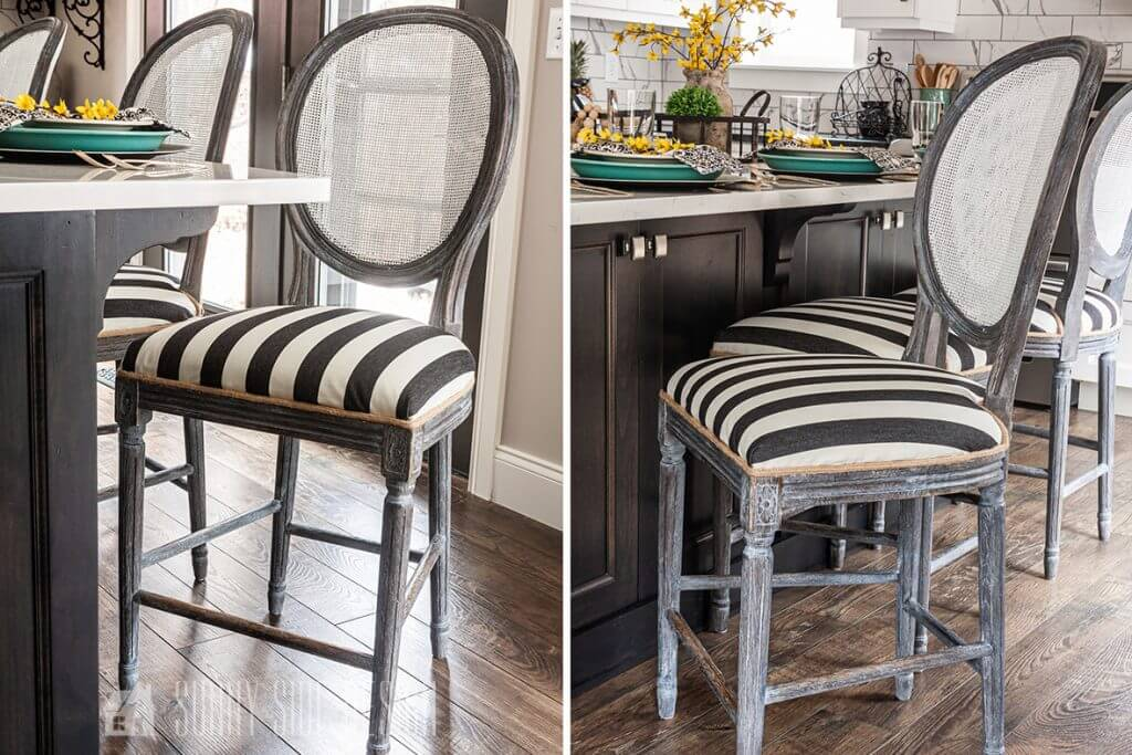 French Bar Stool Makeover