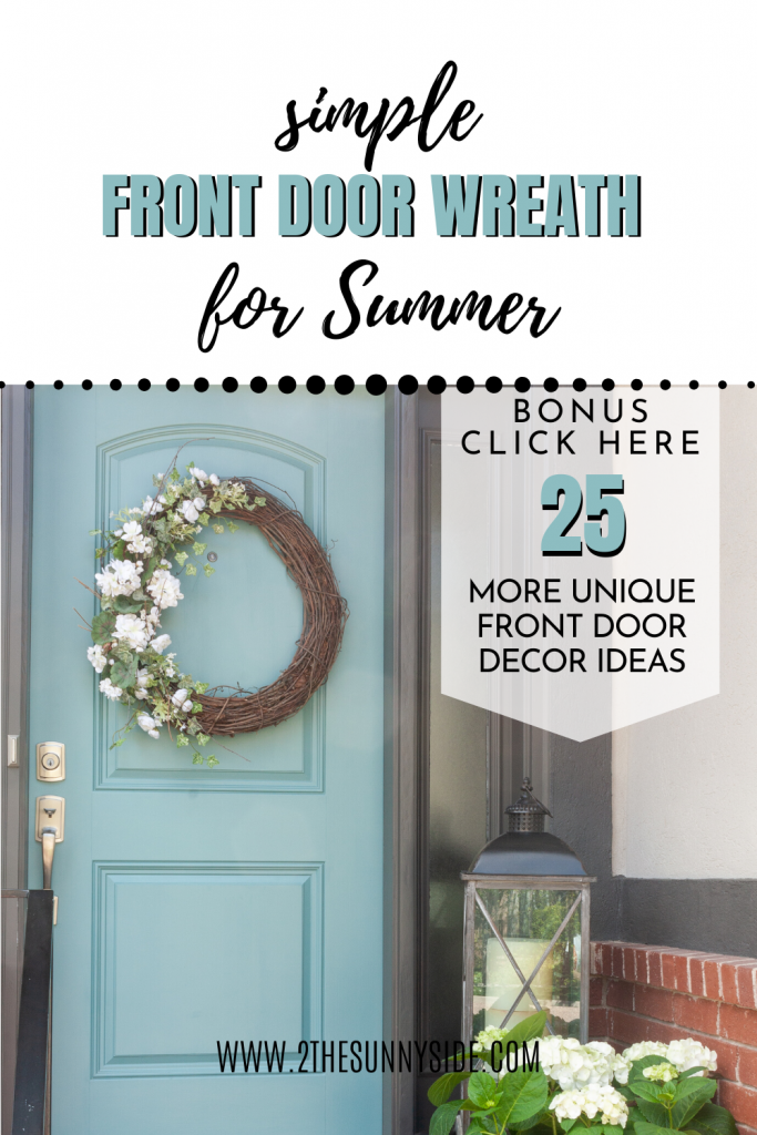 Front Door Wreath for Summer
