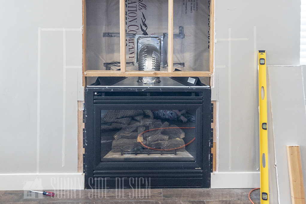 Fireplace installation