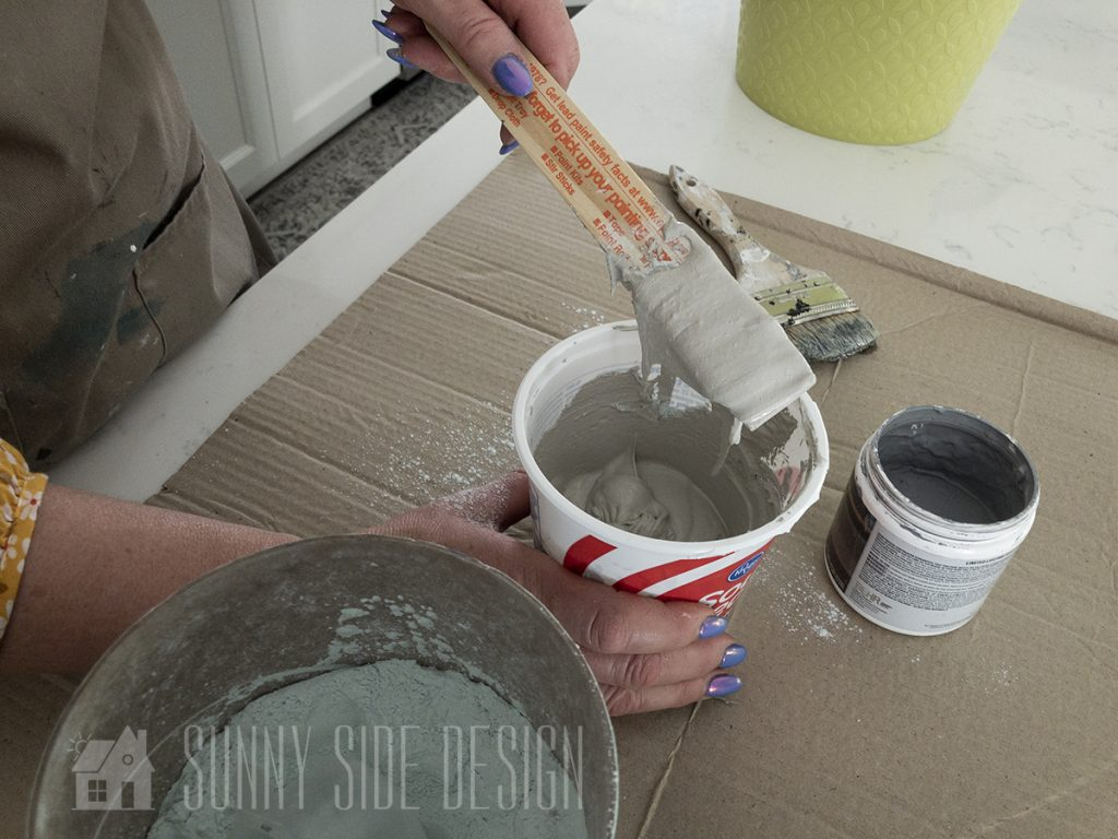 Saltwash paint faux concrete finish