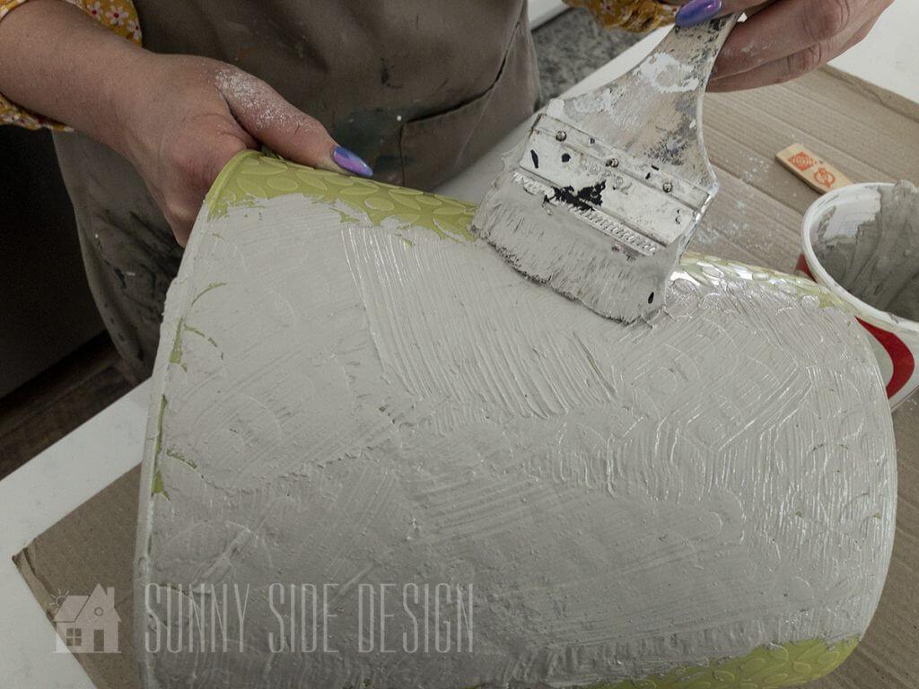 Saltwash paint mixture faux contrete finish
