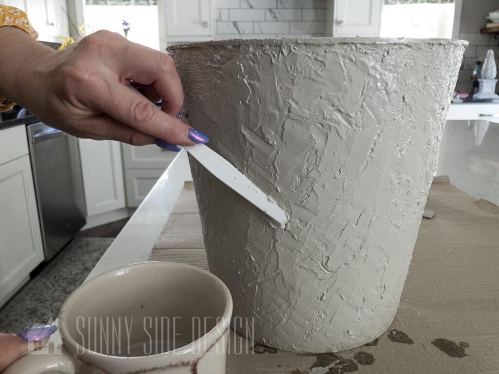 Pallet knife faux concrete finish