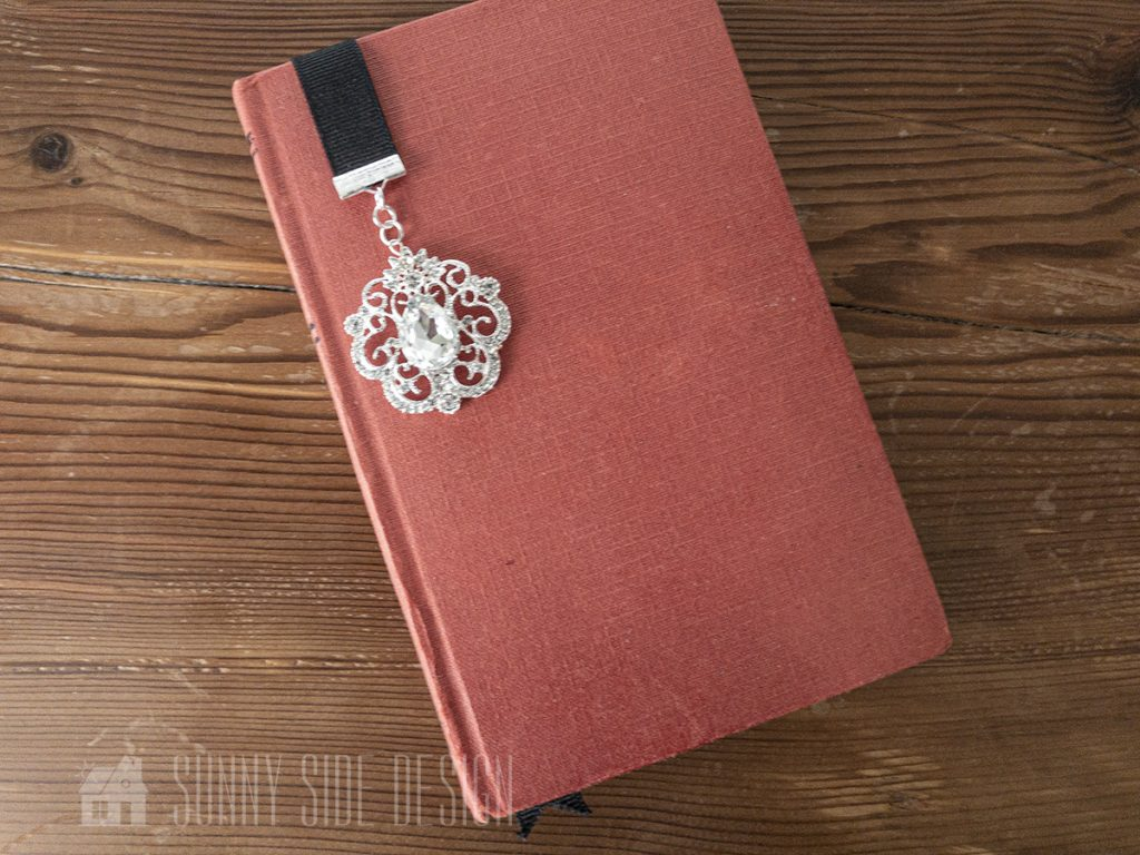 Ribbon & Rhinestone Bookmark