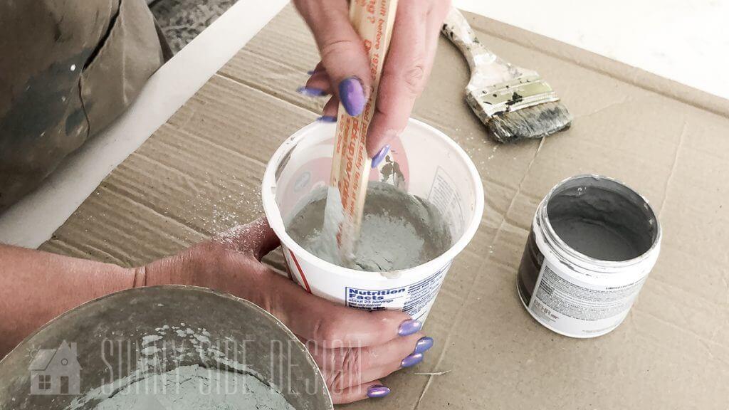Mix Saltwash into paint for faux concrete finish