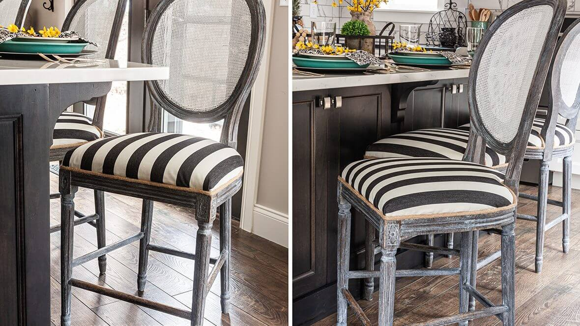 Farmhouse Bar Stool Makeover