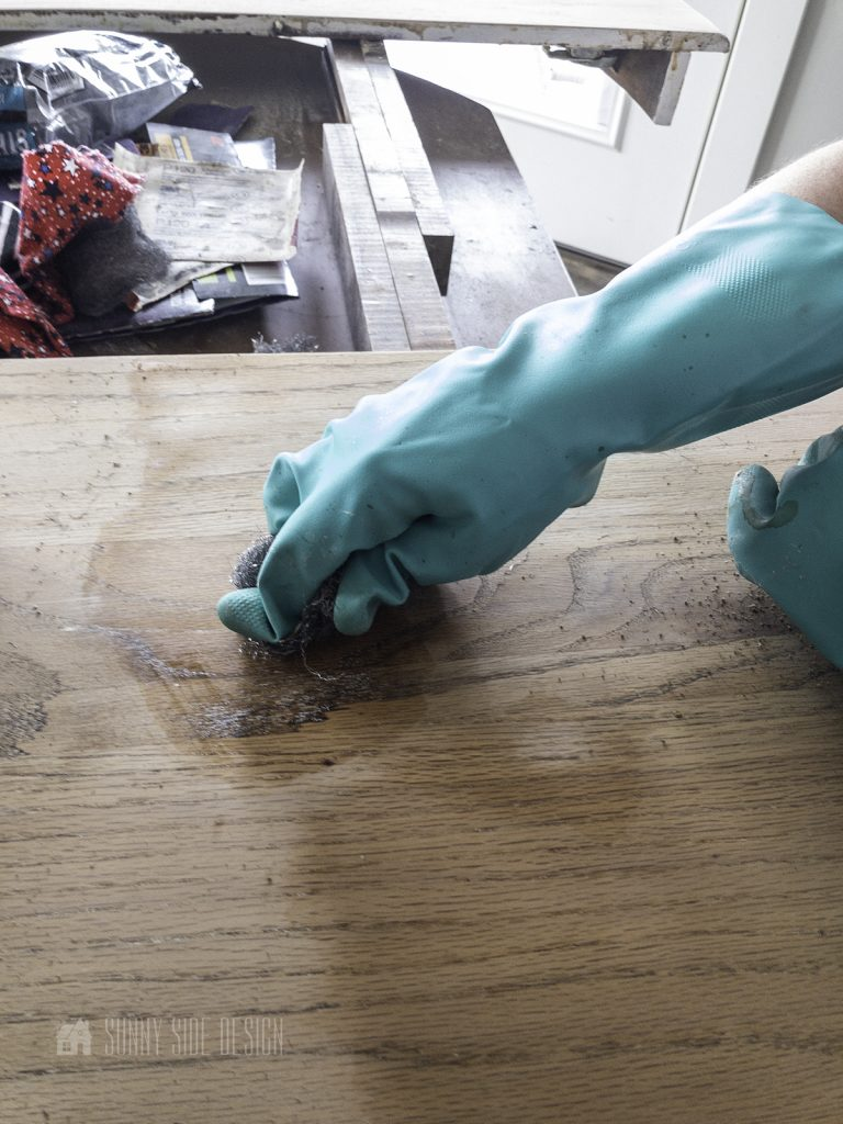 steel wool to remove paint