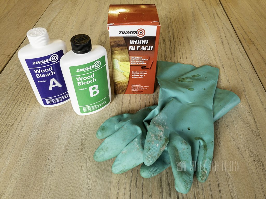 materials to bleach wood table