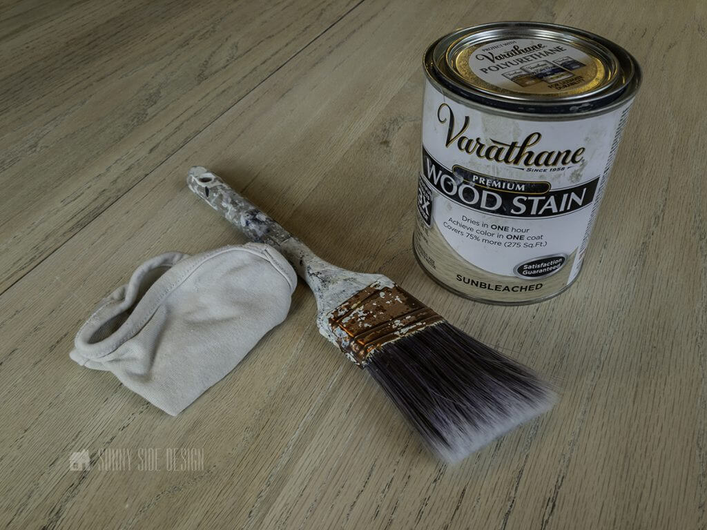 supplies used to stain wood table top