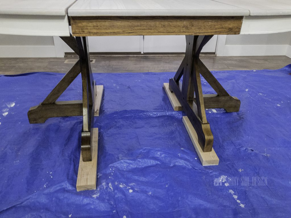 before: new legs for wood table