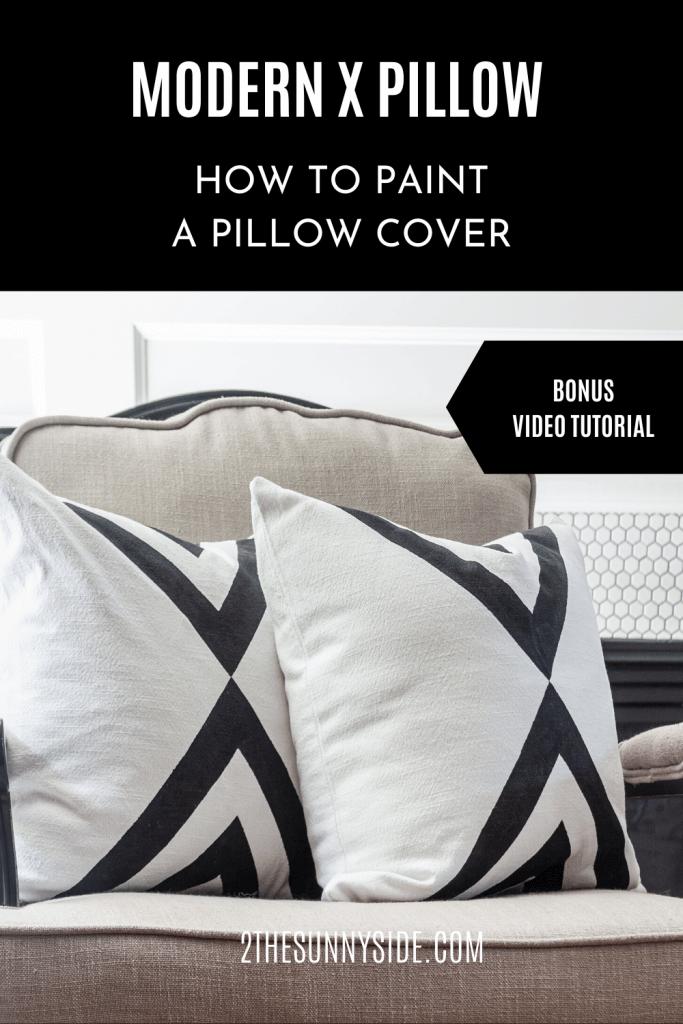 Decorating a pillow