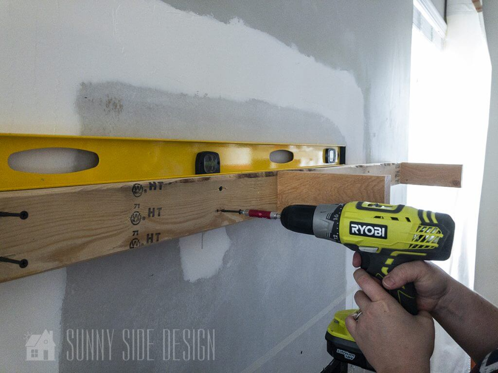 Installing Faux Beam Mantle