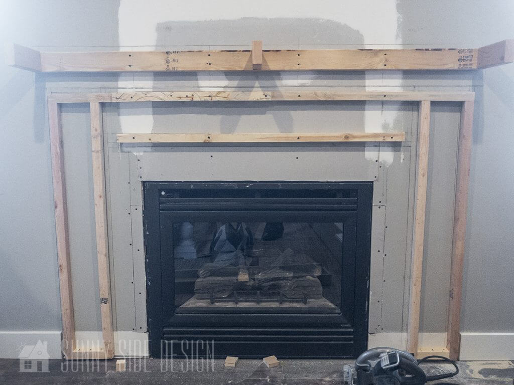 Prepping for Fireplace Surround
