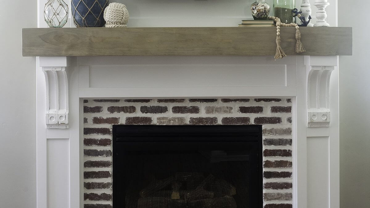 Fireplace Mantel Surround | How To Install Brick Veneer
