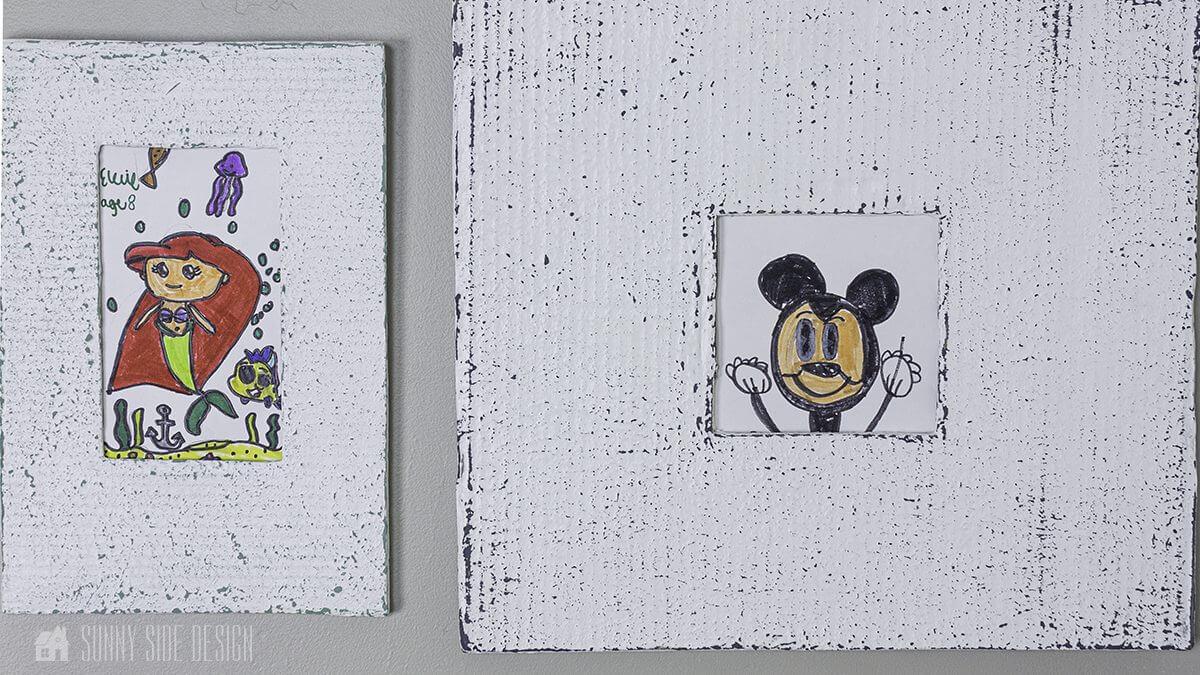 Cardboard Picture Frames Made with Saltwash