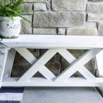 Simple 2×4 Bench with Plans | Farmhouse Bench