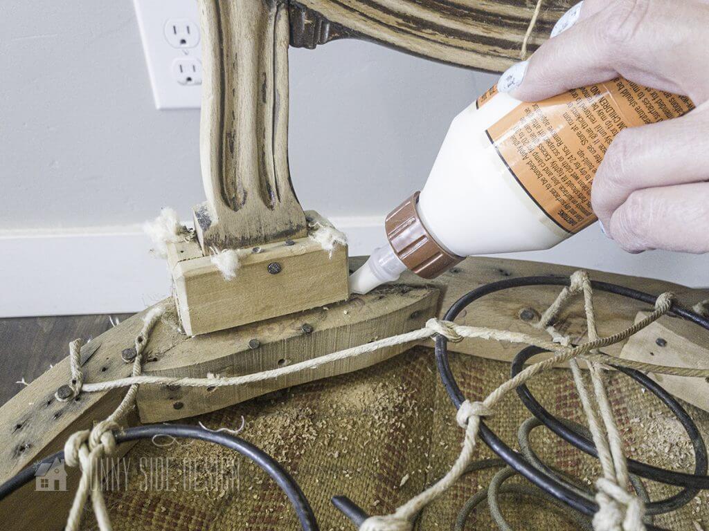 Repair wobbly chair