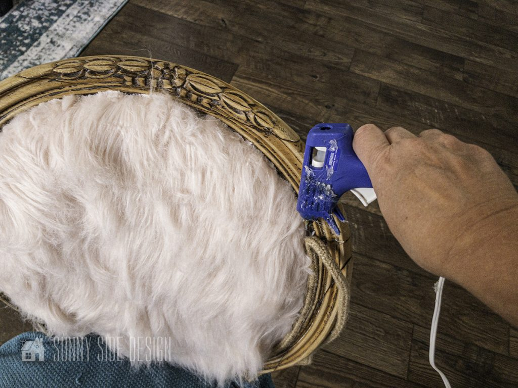 How to Reupholster a Chair finish with cording