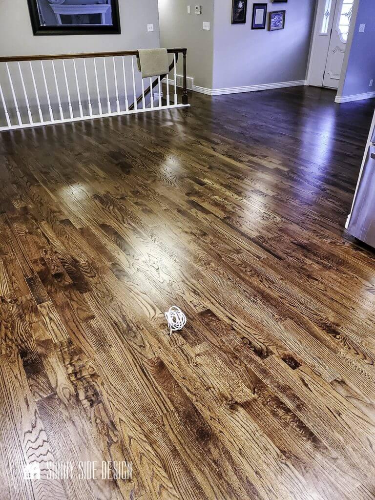 Beautiful refinished oak hardwood floors.
