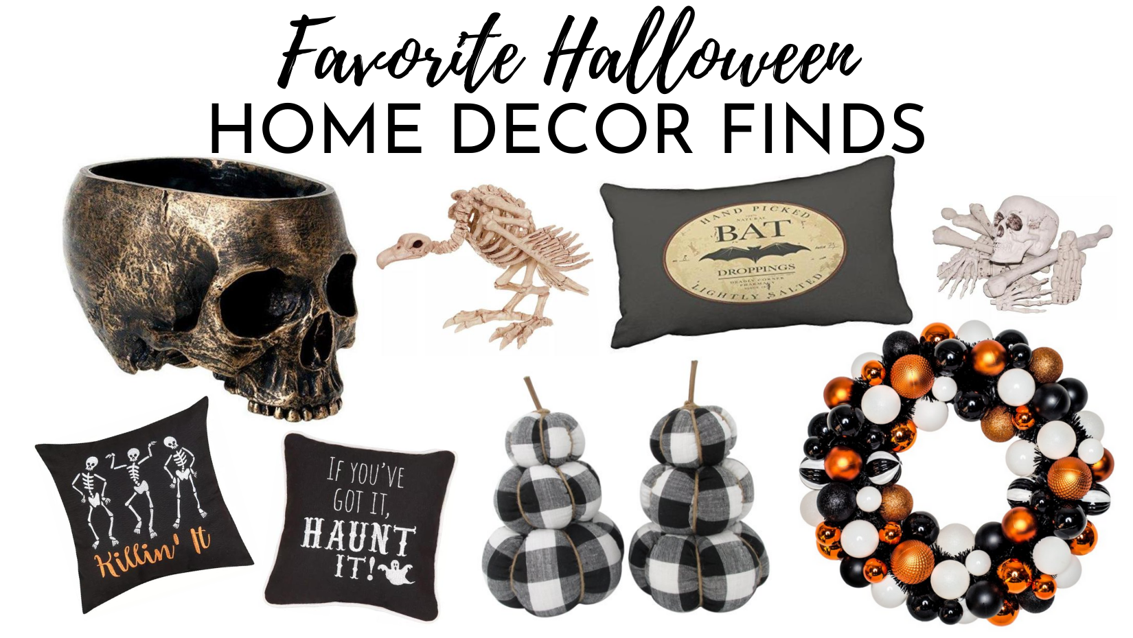 Favorite Halloween Home Decor Finds