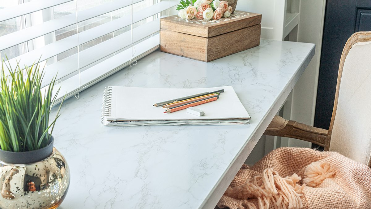 DIY Countertop with a Marble Look