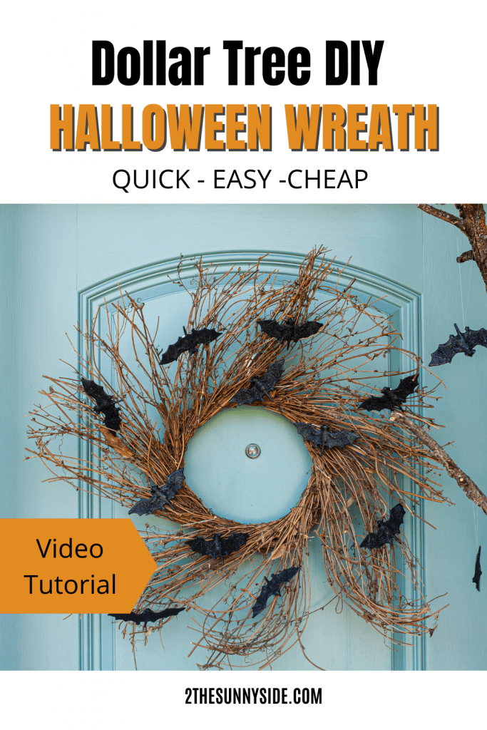 Dollar Tree DIY Halloween Wreath