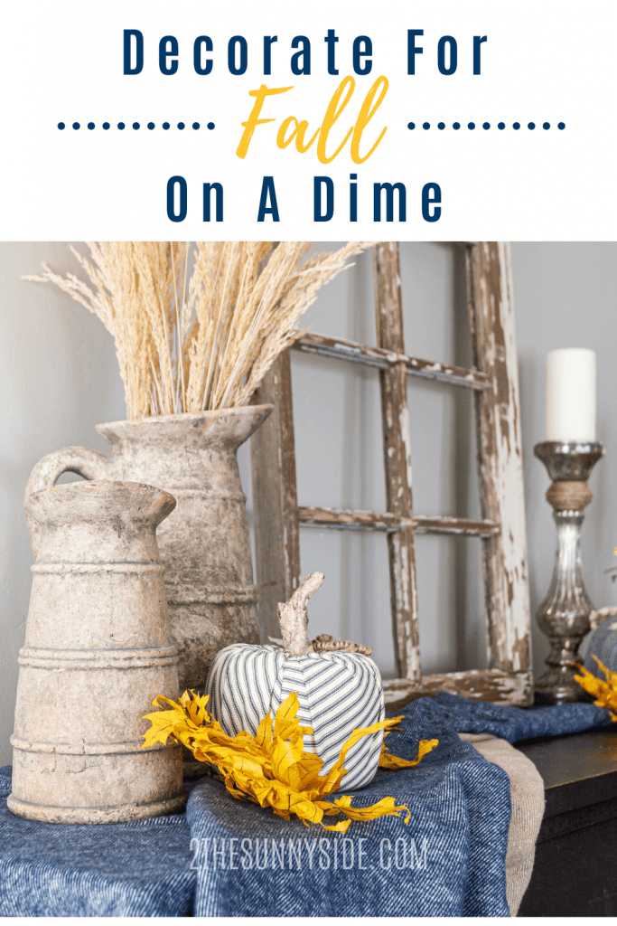 fall decorating on a dime