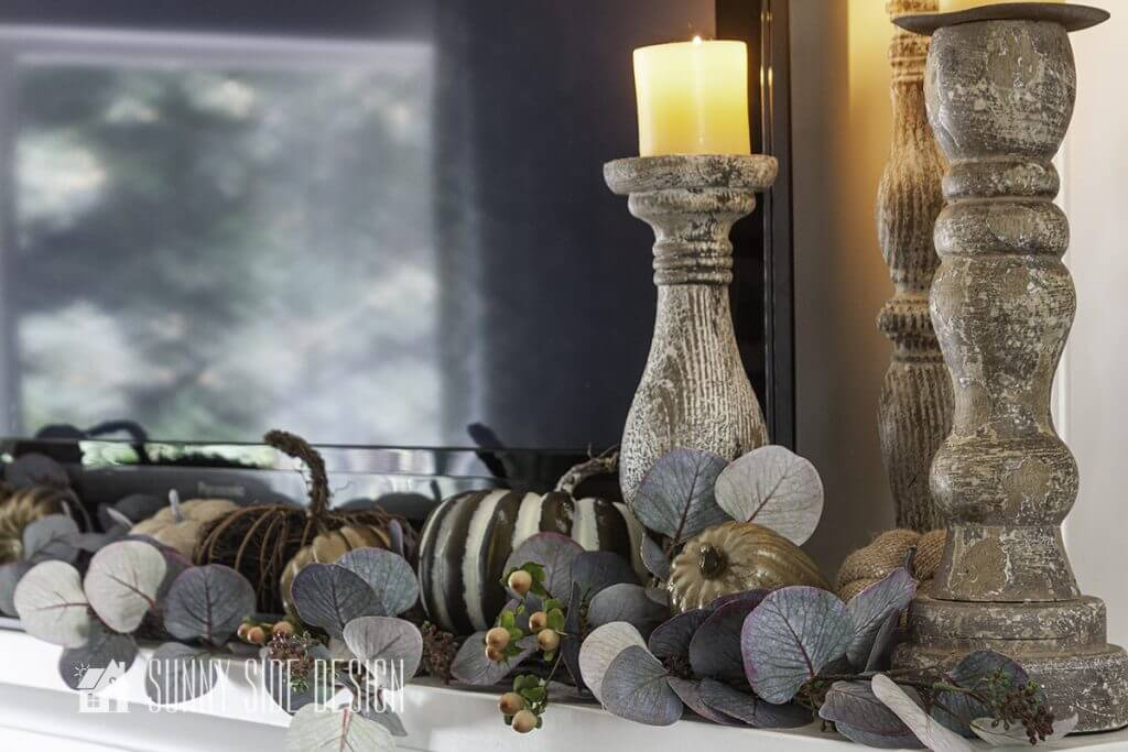 Fall decorating with natural elements