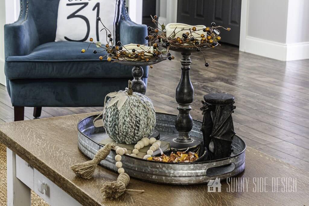Halloween Coffee Table Styling