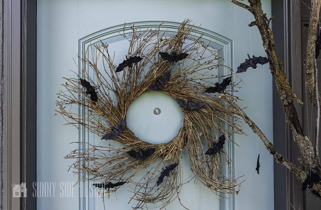 Halloween Bat Wreath