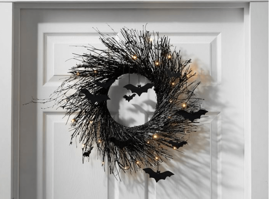 Pottery Barn Inspiration Halloween Wreath