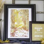 Fall Printables | Free Watercolor Art