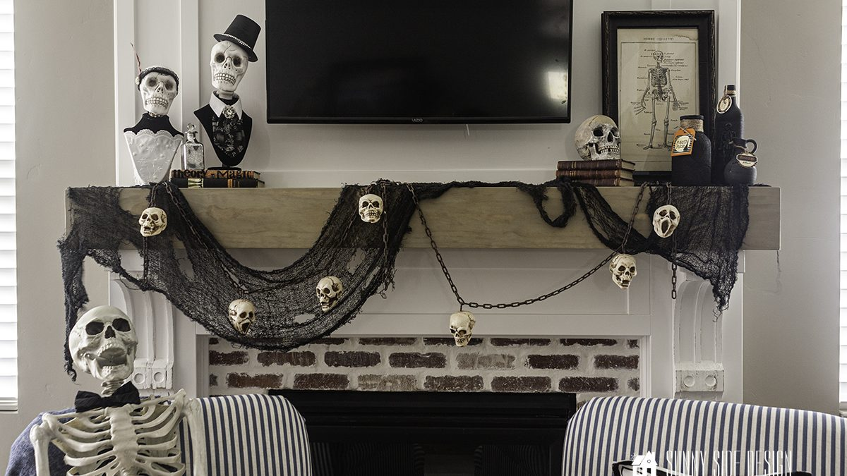 How To Make Bust Skull Decor for Halloween