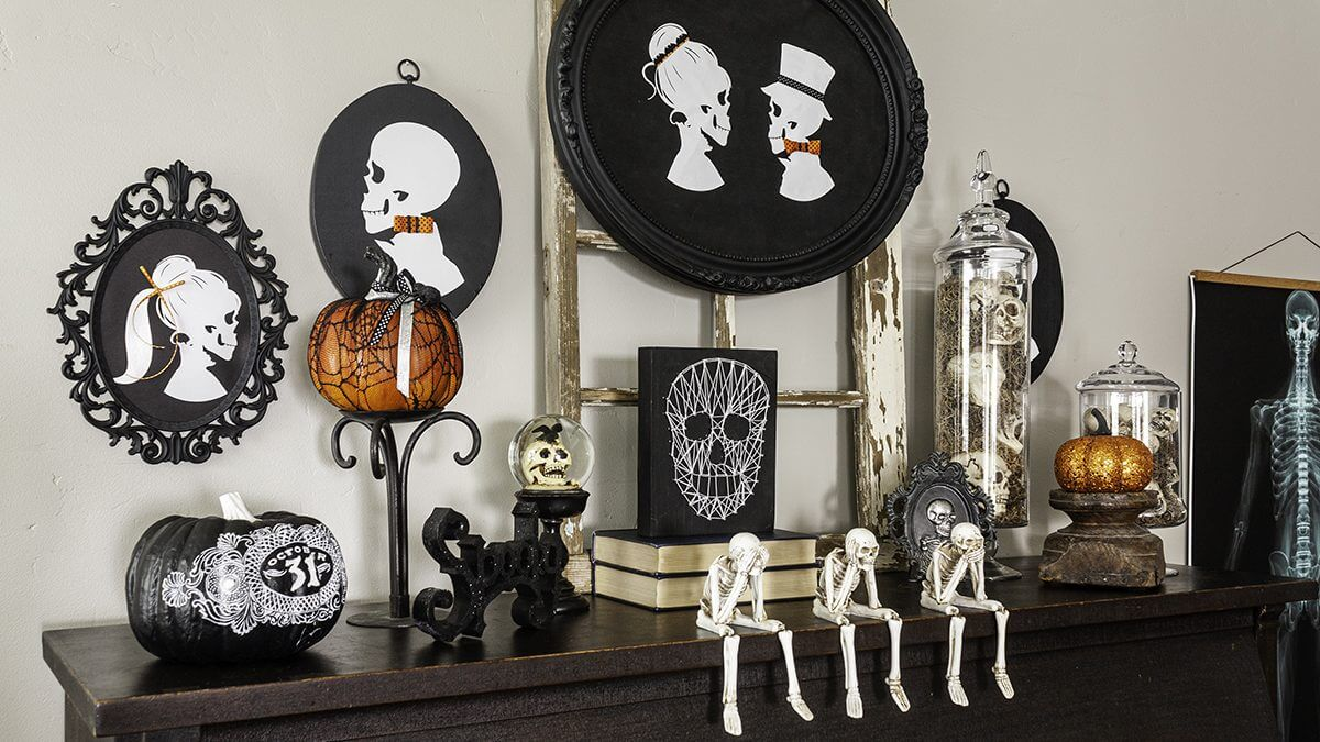 How To Make Halloween Decor | Skeleton Silhouettes