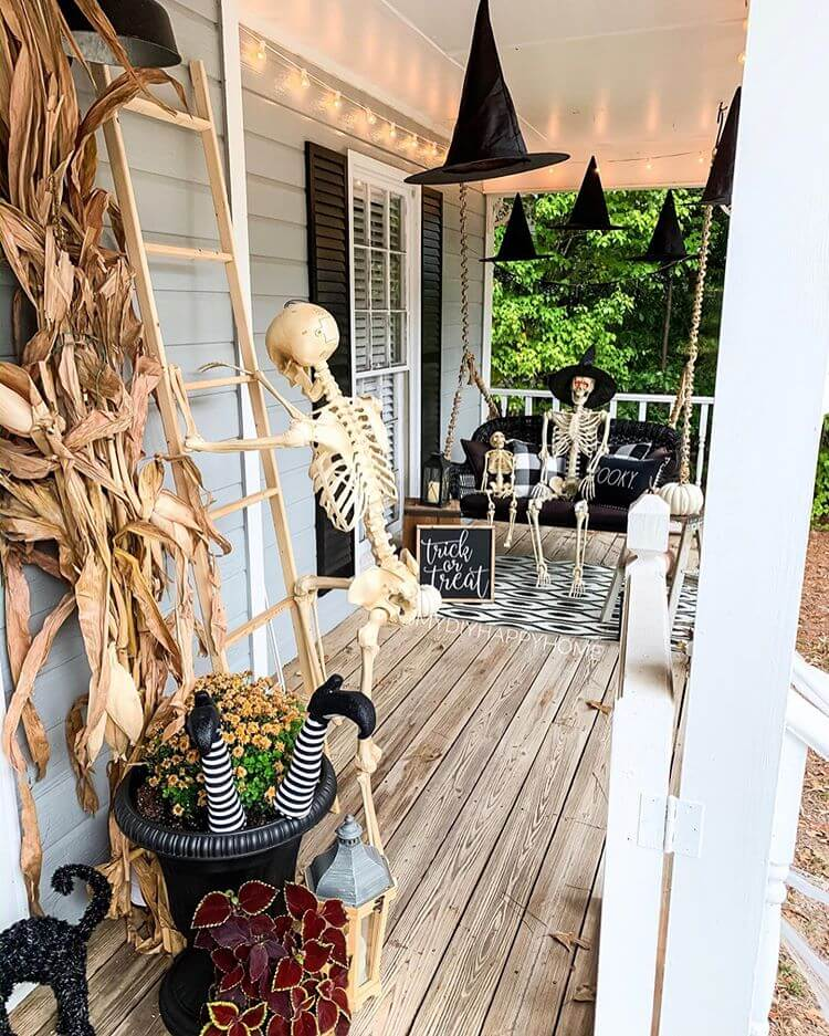Ideas for Halloween Decor on the front porch