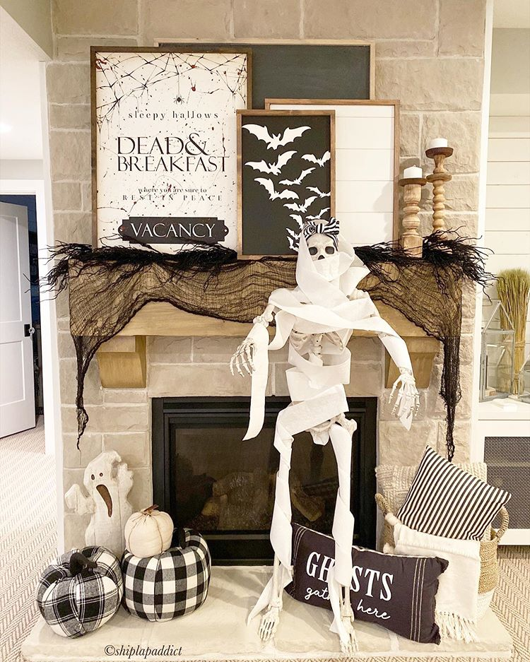 Ideas for Halloween Decor for the Fireplace